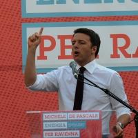 Foto Nicoloro G. 03/06/2016 Ravenna Chiusura campagna elettorale amministrative del PD a Ravenna con l' intervento del presidente del Consiglio. nella foto l' intervento del premier Matteo Renzi.