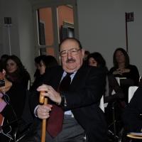 Foto Nicoloro G. 29/02/2016 Milano Panoramica di foto d' archivio di Umberto Eco. nella foto Umberto Eco interviene al dibattito, presso la Fondazione SUM, per la presentazione del progetto di alta formazione post laurea.