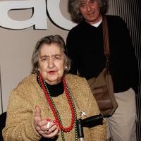 03/12/2007 Milano La poetessa Alda Merini alla FNAC, per una serata in suo onore, con il cantautore Angelo Branduardi.