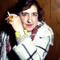 11/10/1993 Milano La poetessa Alda Merini ad una serata di premiazioni al Teatro San Babila.