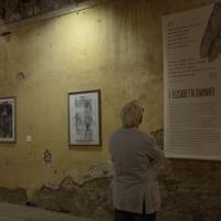 Foto Nicoloro G. 18/10/2013 Bagnacavallo ( Ravenna ) I° Festival Nazionale dell' Incisione Contemporanea organizzato dal Gabinetto delle Stampe antiche e moderne del Museo Civico delle Cappuccine. nella foto Una sala della mostra