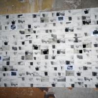 Foto Nicoloro G. 18/10/2013 Bagnacavallo ( Ravenna ) I° Festival Nazionale dell' Incisione Contemporanea organizzato dal Gabinetto delle Stampe antiche e moderne del Museo Civico delle Cappuccine. nella foto Un opera in mostra