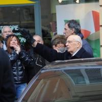 Foto Nicoloro G. 07/01/2011 Reggio Emilia Primo appuntamento ufficiale per i 150 anni dell' Unita' d' Italia alla presenza del capo dello Stato. nella foto Il presidente Giorgio Napolitano saluta la folla