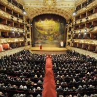 Foto Nicoloro G. 07/01/2011 Reggio Emilia Primo appuntamento ufficiale per i 150 anni dell' Unita' d' Italia alla presenza del capo dello Stato. nella foto L'interno del teatro Valli