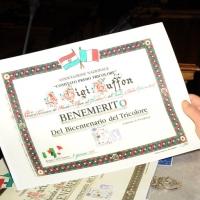 Foto Nicoloro G. 07/01/2011 Reggio Emilia Primo appuntamento ufficiale per i 150 anni dell' Unita' d' Italia alla presenza del capo dello Stato. nella foto L'attestato di benemerenza dato a Gianluigi Buffon
