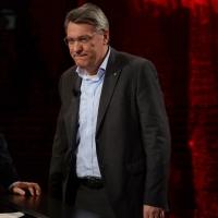 """Foto Nicoloro G.   15/03/2014  Milano   Trasmissione televisiva su Rai 3  """"Che tempo che fa"""". nella foto il segretario Fiom Maurizio Landini."""