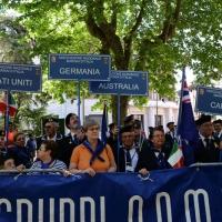Foto Nicoloro G.   10/05/2015  Ravenna    Diciannovesimo raduno nazionale dei Marinai d' Italia. nella foto  marinai venuti da diversi paesi del mondo.
