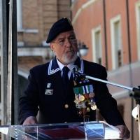 Foto Nicoloro G.   10/05/2015  Ravenna    Diciannovesimo raduno nazionale dei Marinai d' Italia. nella foto il presidente ANMI Paolo Pagnottella durante il suo intervento.