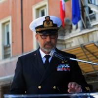 Foto Nicoloro G.   10/05/2015  Ravenna    Diciannovesimo raduno nazionale dei Marinai d' Italia. nella foto il Capo di Stato Maggiore della Marina Giuseppe De Giorgi durante il suo intervento.