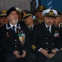 Foto Nicoloro G.   10/05/2015  Ravenna    Diciannovesimo raduno nazionale dei Marinai d' Italia. nella foto da sinistra  il presidente ANMI Paolo Pagnottella e il Capo di Stato Maggiore della Marina Giuseppe De Giorgi.