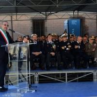 Foto Nicoloro G.   10/05/2015  Ravenna    Diciannovesimo raduno nazionale dei Marinai d' Italia. nella foto il sindaco di Ravenna Fabrizio Matteucci durante il suo intervento.