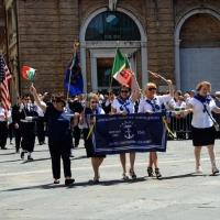 Foto Nicoloro G.  10/05/2015  Ravenna    Diciannovesimo raduno nazionale dei Marinai d' Italia. nella foto  marinai venuti direttamente da Boston, Stati Uniti.