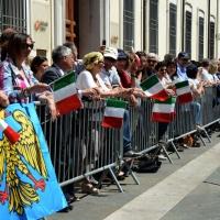 Foto Nicoloro G.   10/05/2015  Ravenna    Diciannovesimo raduno nazionale dei Marinai d' Italia. nella foto numerosi i cittadini che hanno assistito alla sfilata.