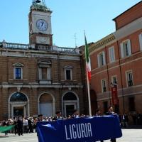 Foto Nicoloro G.  10/05/2015  Ravenna    Diciannovesimo raduno nazionale dei Marinai d' Italia. nella foto sfilano i marinai della Liguria.