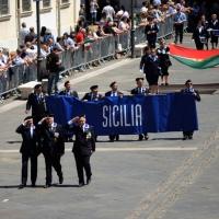 Foto Nicoloro G.  10/05/2015  Ravenna    Diciannovesimo raduno nazionale dei Marinai d' Italia. nella foto sfilano i marinai della Sicilia.