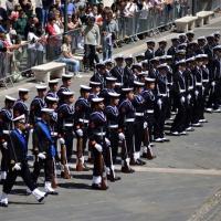 Foto Nicoloro G.  10/05/2015  Ravenna    Diciannovesimo raduno nazionale dei Marinai d' Italia. nella foto marinai del battaglione San Marco.