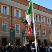 Foto Nicoloro G.  10/05/2015  Ravenna    Diciannovesimo raduno nazionale dei Marinai d' Italia. nella foto l' alza bandiera.
