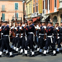 Foto Nicoloro G.   10/05/2015  Ravenna    Diciannovesimo raduno nazionale dei Marinai d' Italia. nella foto fucilieri del battaglione San Marco.