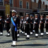 Foto Nicoloro G.  10/05/2015  Ravenna    Diciannovesimo raduno nazionale dei Marinai d' Italia. nella foto fucilieri dell battaglione San Marco.