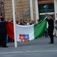 Foto Nicoloro G.   10/05/2015  Ravenna    Diciannovesimo raduno nazionale dei Marinai d' Italia. nella foto la cerimonia dell' ammaina bandiera.