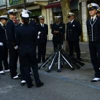Foto Nicoloro G.  10/05/2015  Ravenna    Diciannovesimo raduno nazionale dei Marinai d' Italia. nella foto allievi della Scuola della Marina Militare in attesa di sfilare.