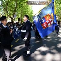 Foto Nicoloro G.   10/05/2015  Ravenna    Diciannovesimo raduno nazionale dei Marinai d' Italia. nella foto la bandiera delle quattro repubbliche marinare.