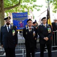 Foto Nicoloro G.   10/05/2015  Ravenna    Diciannovesimo raduno nazionale dei Marinai d' Italia. nella foto tre marinai plurimedagliati.