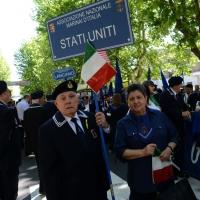 Foto Nicoloro G.  10/05/2015  Ravenna    Diciannovesimo raduno nazionale dei Marinai d' Italia. nella foto  marinai venuti direttamente degli Stati Uniti.