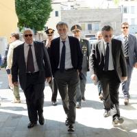 Foto Nicoloro G. 26/05/2017 Ravenna 2° Forum Nazionale sulla sicurezza nei Porti. nella foto l' arrivo del ministro Graziano Delrio.