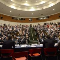 Foto Nicoloro G. 26/05/2017 Ravenna 2° Forum Nazionale sulla sicurezza nei Porti. nella foto una veduta del salone del Palacongressi.