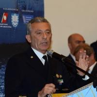Foto Nicoloro G. 26/05/2017 Ravenna 2° Forum Nazionale sulla sicurezza nei Porti. nella foto l' ammiraglio Giovanni Pettorino, Comandante del porto di Genova.