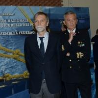Foto Nicoloro G. 26/05/2017 Ravenna 2° Forum Nazionale sulla sicurezza nei Porti. nella foto il ministro Graziano Delrio e l' ammiraglio comandante del porto di Genova Giovanni Pettorino.