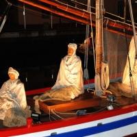 Foto Nicoloro G. 23/12/2010 Cesenatico (FC) Tradizionale presepe sulle barche, tipiche della marineria locale, ormeggiate nel porto canale di Cesenatico. nella foto La barca dei Re Magi