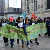 Foto Nicoloro G. 20/11/2017 Milano Nella ' Giornata internazionale dei diritti dell' Infanzia ' un allegro e variegato corteo ha attraversato le vie del centrocitta'. nella foto un momento lungo il corteo.