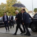 Foto Nicoloro G.   05/11/2019   Ravenna   Alla presenza del Capo dello Stato si e' svolta la cerimonia in ricordo di Benigno Zaccagnini, nel trentesimo anniversario della sua morte. nella foto il presidente Sergio Mattarella al suo arrivo.