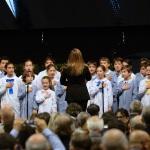 Foto Nicoloro G.   05/11/2019   Ravenna   Alla presenza del Capo dello Stato si e' svolta la cerimonia in ricordo di Benigno Zaccagnini, nel trentesimo anniversario della sua morte. nella foto in apertura un coro di bambini ha intonato l' inno d' Italia.