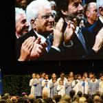 Foto Nicoloro G.   05/11/2019   Ravenna   Alla presenza del Capo dello Stato si e' svolta la cerimonia in ricordo di Benigno Zaccagnini, nel trentesimo anniversario della sua morte. nella foto il presidente Sergio Mattarella applaude il coro di bambini che ha intonato l' inno d' Italia.