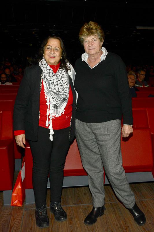 Foto Nicoloro G. 14/12/2018 Riccione ( Rimini ) Terza giornata del 27° Congresso Nazionale FIOM-CGIL. nella foto Mai Alkaila, ambasciatrice in Italia dello Stato di Palestina, a sinistra, e Susanna Camusso, segretaria generale CGIL.