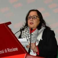 Foto Nicoloro G. 14/12/2018 Riccione ( Rimini ) Terza giornata del 27° Congresso Nazionale FIOM-CGIL. nella foto Mai Alkaila, ambasciatrice in Italia dello Stato di Palestina.