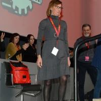 Foto Nicoloro G. 15/12/2018 Riccione ( Rimini ) Ultima giornata del 27° Congresso Nazionale della FIOM-CGIL. nella foto Ilaria Cucchi.