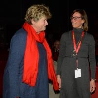 Foto Nicoloro G. 15/12/2018 Riccione ( Rimini ) Ultima giornata del 27° Congresso Nazionale della FIOM-CGIL. nella foto Susanna Camusso con Ilaria Cucchi.