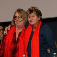 Foto Nicoloro G. 15/12/2018 Riccione ( Rimini ) Ultima giornata del 27° Congresso Nazionale della FIOM-CGIL. nella foto a sinistra Francesca Re David, segretaria generale FIOM-CGIL e Susanna Camusso, segretaria generale CGIL.