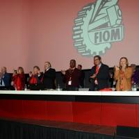 Foto Nicoloro G. 15/12/2018 Riccione ( Rimini ) Ultima giornata del 27° Congresso Nazionale della FIOM-CGIL. nella foto il tavolo di presidenza dei lavori.