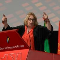 Foto Nicoloro G. 12/12/2018 Riccione ( Rimini ) Si e' aperto il 27° Congresso Nazionale FIOM-CGIL. nella foto la segretaria generale FIOM-CGIL Francesca Re David.
