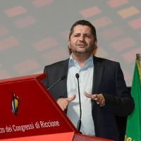 Foto Nicoloro G. 12/12/2018 Riccione ( Rimini ) Si e' aperto il 27° Congresso Nazionale FIOM-CGIL. nella foto Marco Bentivogli, segretario generale FIM-CISL.