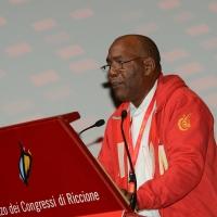 Foto Nicoloro G. 13/12/2018 Riccione ( Rimini ) Seconda giornata del 27° Congresso Nazionale FIOM-CGIL. nella foto il segretario del FNTI di Cuba Emilio Perez Estrada.