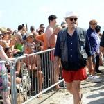 Foto Nicoloro G.   15/08/2019  Cervia ( Ra )   27° edizione di ' Cervia, la spiaggia ama il libro ' con il tradizionale sbarco degli scrittori dalle imbarcazioni storiche. nella foto l' attore Ivano Marescotti.