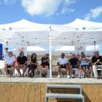 Foto Nicoloro G.   15/08/2019  Cervia ( Ra )   27° edizione di ' Cervia, la spiaggia ama il libro ' con il tradizionale sbarco degli scrittori dalle imbarcazioni storiche. nella foto il palco con gli ospiti scrittori.