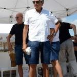 Foto Nicoloro G.   15/08/2019  Cervia ( Ra )   27° edizione di ' Cervia, la spiaggia ama il libro ' con il tradizionale sbarco degli scrittori dalle imbarcazioni storiche. nella foto il giornalista Marino Bartoletti.