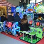 Foto Nicoloro G.   13/03/2019   Rimini   Trentunesima edizione di ' ENADA Primavera ', la piu' importante manifestazione del Sud Europa dedicata al gioco responsabile e legale. nella foto visitatori che si intrattengono con dei giochi.